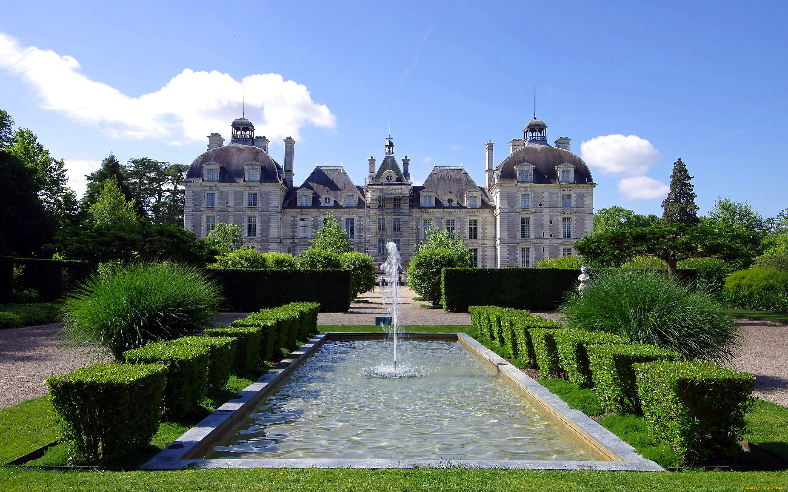 chateau de cheverny, города, замки франции, chateau, de, cheverny